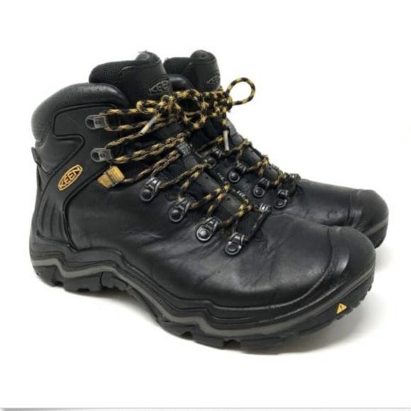 047999e32839d KEEN Liberty Ridge Black Hiking Boots Leather